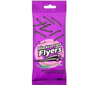 Liquorice Flyers With Blackcurrant Centre - 12 x 95gm Pack