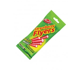 Liquorice Flyers With Strawberry Centre - 12 x 95gm Pack