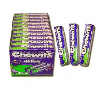 Chewits Blackcurrant Flavoured Sweets - 40 Pack