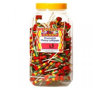 Drumstick Chewy Lollipops - 150 Jar