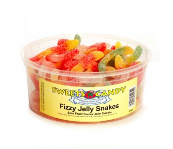 Fizzy Jelly Snakes - 600g Tub