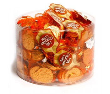Gold Coins Chocolate Money in Nets - 60 x 25g Nets