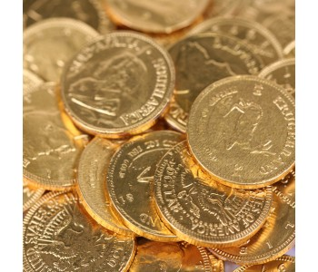 'All The World' Milk Chocolate Coins - 1Kg (193 Coins)