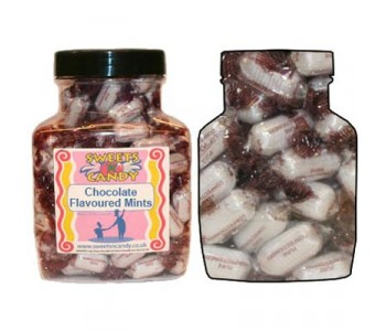 A Jar of Chocolate Flavoured Mints - 1.5 Kg Jar