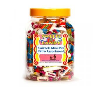 A Jar of Assorted Swizzels Mini Mix Retro Sweets - 1Kg Jar