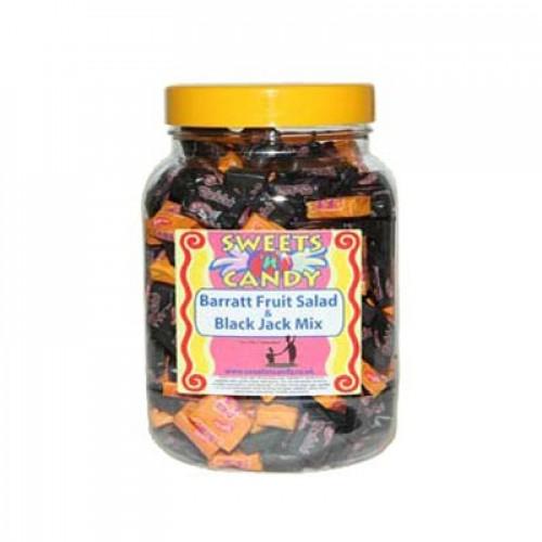 Barratts Blackjack And Fruit Salad Mix In A Jar (1.5Kg Jar