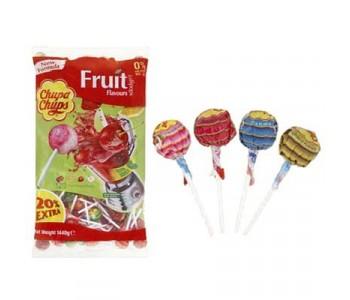 Chupa Chups Assorted Fruit Lollipops - 120 Refill Pack