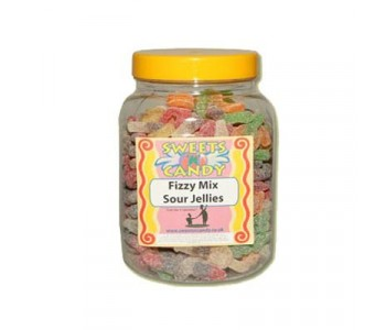 A Jar of Mixed Fizzy Jellies - 1.5 Kg Jar