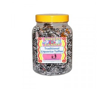A Jar of Walkers Traditional Liquorice Toffee - 1.2Kg Jar