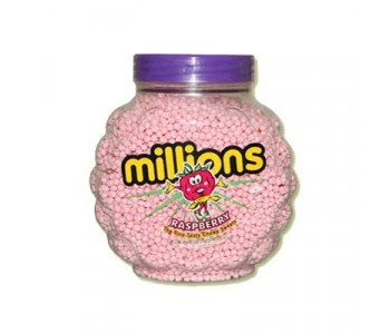 Millions- Raspberry Flavour Chewy Sweets - 2.27 Kg Jar