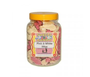 A Jar of Pink And White Chocolate Mice - 1.5 Kg Jar