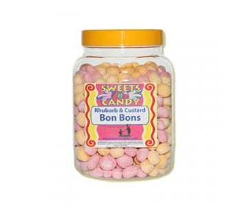 A Jar of Rhubarb And Custard Bon Bons - 1.5Kg Jar