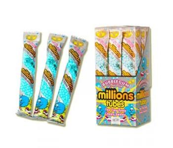 Millions Tubes Bubble Gum Flavour - 12 Pack