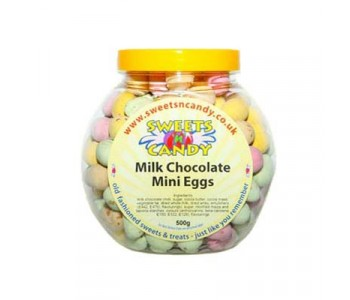Milk Chocolate Candy Coated Mini Eggs - 500g Jar