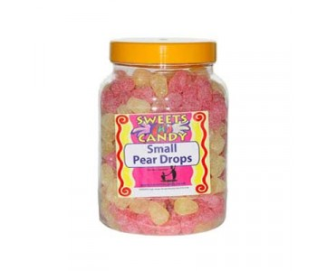 Pear Drops (Small) Old Fashioned Sweets in a Jar - 2Kg Jar