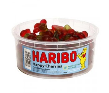 Haribo Happy Cherries - 1.5Ltr Tub - 750g