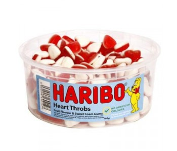 Haribo Heart Throbs Fruity Foam Gums - 1.5Ltr Tub (750g)