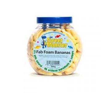 Sweet Monster Fab Foam Bananas - 300g Jar