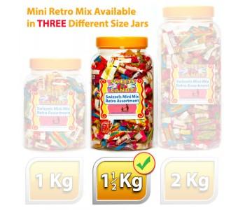 A Jar of Assorted Swizzels Mini Mix Retro Sweets - 1.5Kg Jar