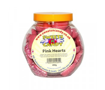 Pink Candy Hearts - 450g Jar