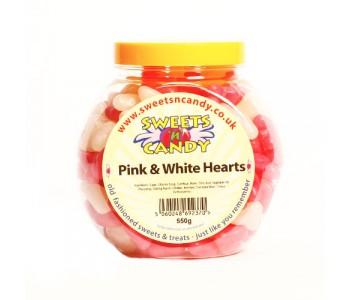 Barratt Pink and White Hearts - 550g Jar